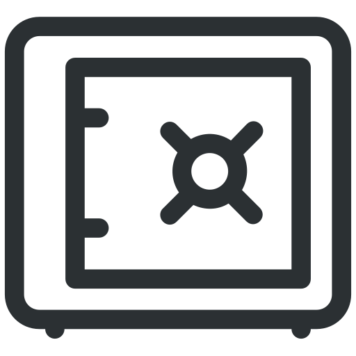 bank, safe, security, vault icon icon