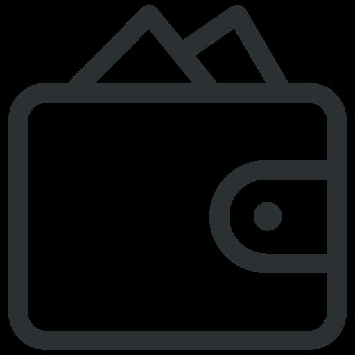 money, purse, wallet icon icon