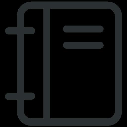 book, copybook, notebook icon icon