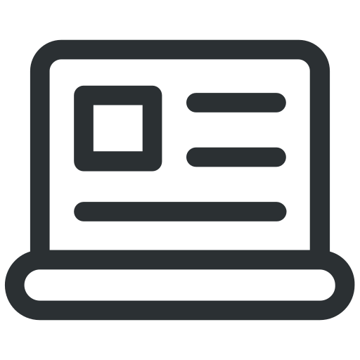 business, computer, employee, laptop, pc, record, screen icon icon