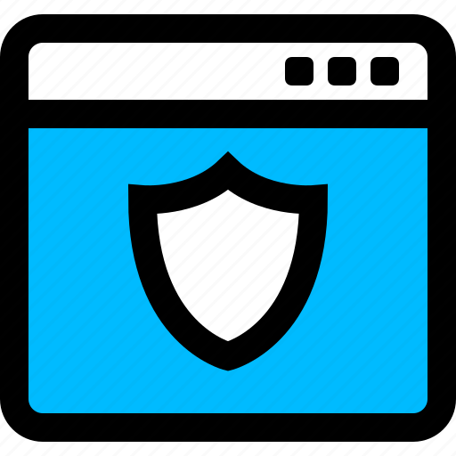 browser, protected, secure, shield icon