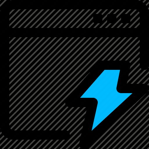 application, thunder, window icon