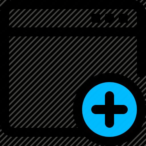 add, application, new, plus, window icon