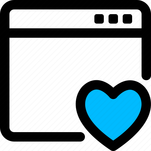 browser, favorite, heart, love, window icon