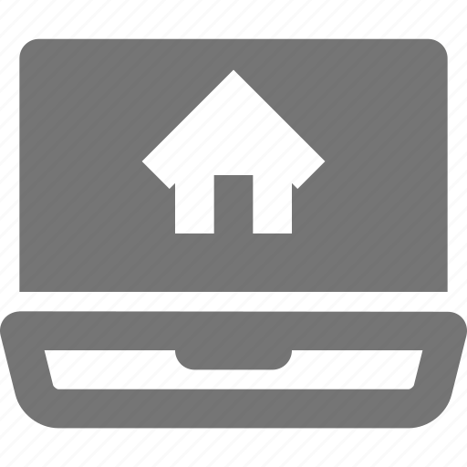 home, house, laptop icon