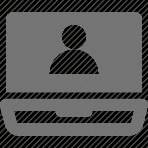 avatar, laptop, person, profile, user icon