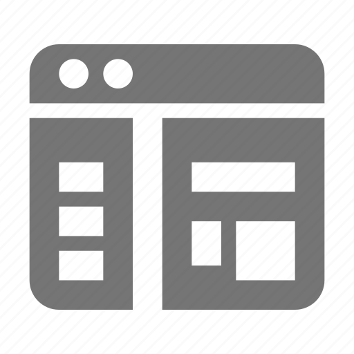 application, layout, window icon