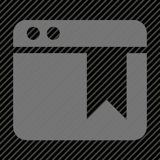 application, bookmark, tag, window icon