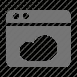application, cloud, window icon
