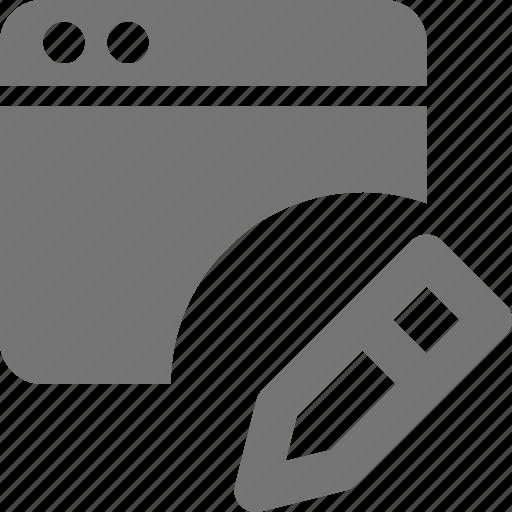 application, edit, pencil, window icon