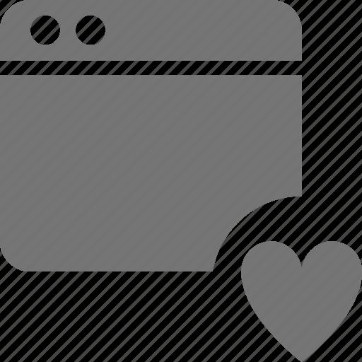 application, favorite, heart, like, window icon