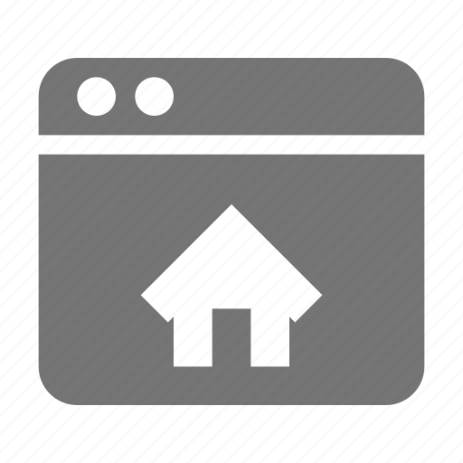 application, home, house, window icon
