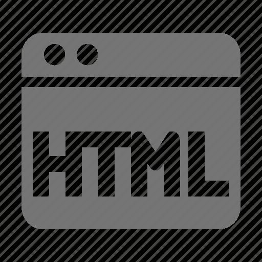 application, html, window icon