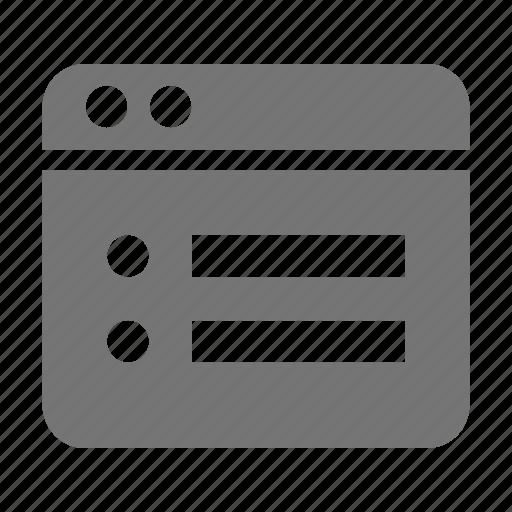 application, list, window icon