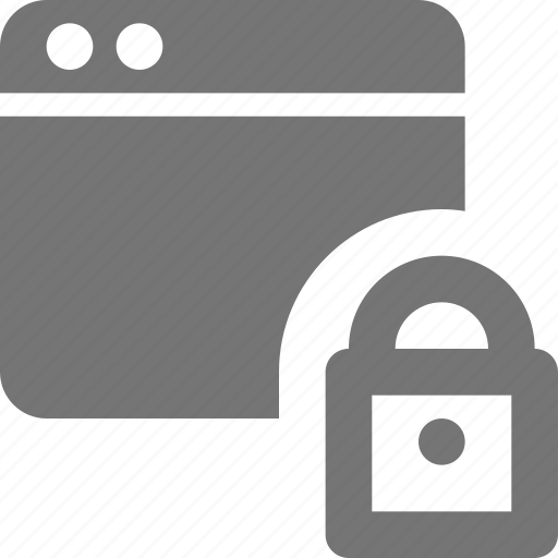 application, lock, security, window icon