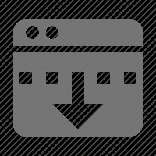 application, arrow, down, reduce, window icon