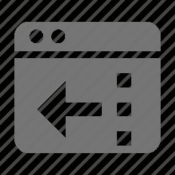 application, left, reduce, window icon