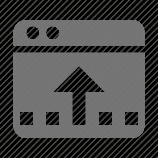 application, arrow, reduce, up, window icon