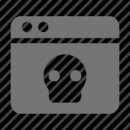 application, skull, window icon
