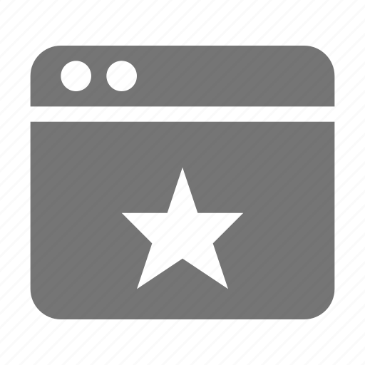 application, star, window icon