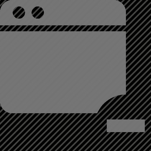 application, minimize, minus, window icon