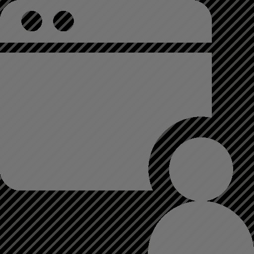 application, avatar, person, profile, users, window icon