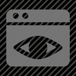 application, eye, view, window icon