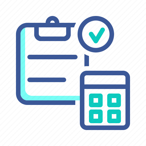 accounting, approval, calculation, calculator, finance icon