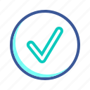 accept, check, mark, ok, success icon