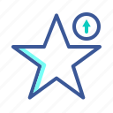arrow, arrows, rating, star, up icon