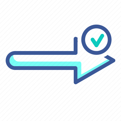 approval, arrow, for, sign, submit icon