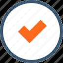 accept, approve, check, checkmark, circle, ok, quality icon
