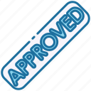 approved, verified, done, approve, accept, stamp, ok