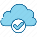 cloud, storage, data, done, check, accept, approved