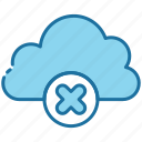 cloud, storage, data, denied, cancel, block, rejected