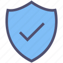 approved, check mark, protection, safe, secured, security, shield