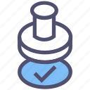 approved, check mark, checked, document, file, paper, user