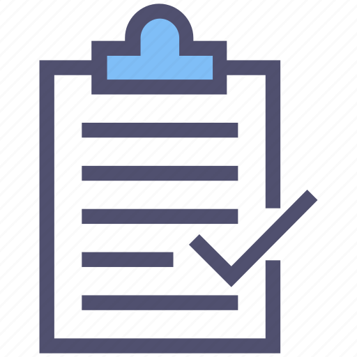 approved, check mark, checked, checklist, clipboard, complete, document icon