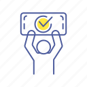 agreement, approved, checkmark, human, man, person, successful icon