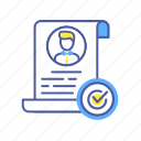 agreement, approved, checkmark, human, people, person, successful icon