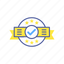 accepted, achievement, agreement, approved, checkmark, stamp, star