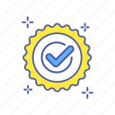 accepted, agreement, approved, checkmark, contract, done, stamp icon