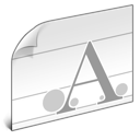 document, font icon