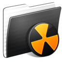burnable, folder, stripped icon