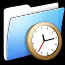 aqua, clock, folder, smooth icon