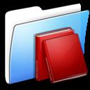 books, folder, library icon