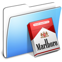 aqua, folder, marlboro, smooth icon