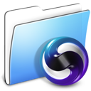 aqua, folder, smooth, themes icon