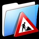 aqua, folder, smooth, works icon