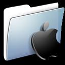 apple, folder, graphite, smooth icon